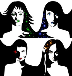 abstract girls vector image