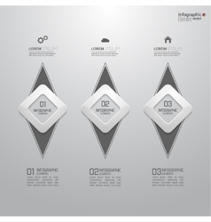 Comparative chart with templates for presentation vector image