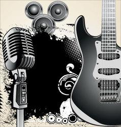 grunge-music-background vector image