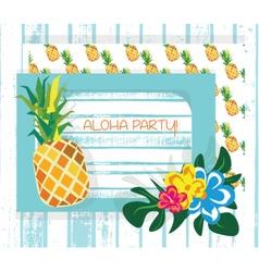 Vintage Summer Card vector image