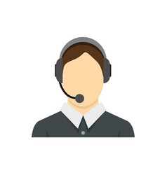 call center operator icon flat style vector image