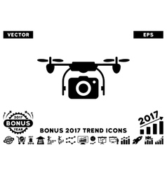 Camera Drone Flat Icon With 2017 Bonus Trend vector image vector image