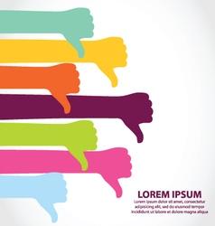 Creative Colorful Thumb down Symbol vector image