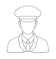 postmanmail and postman single icon in outline vector image