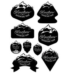 set stylish retro badge templates with vector image