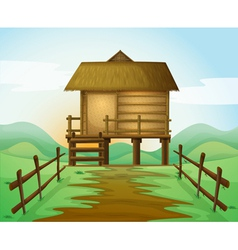 a hut vector image vector image