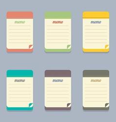 Flat Design Colorful Memo vector image