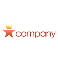luxury crown spa salon logo vector image