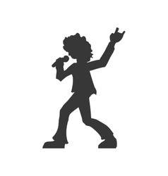 Musician icon Rock music design graphic vector image vector image