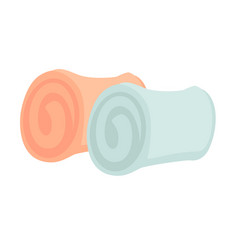small rolled towels of pastel colors isolated vector image vector image