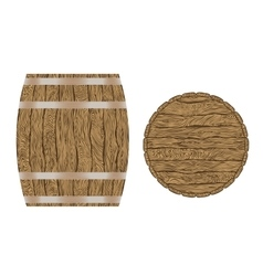 wooden wine barrel vector image vector image