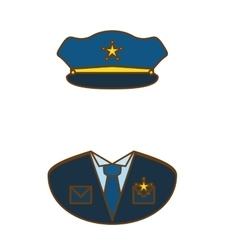 blue police uniform icon image vector image vector image