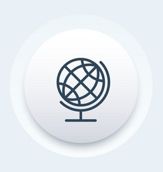 globe icon linear style vector image vector image