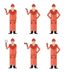 Set of Detectives vector image