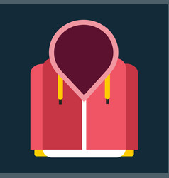 snowboard sport clothes jacket design element item vector image