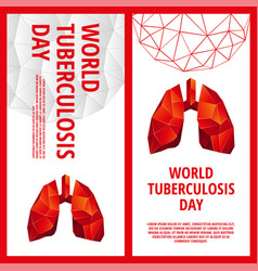 world tuberculosis day flyer template vector image