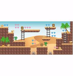 2d tileset platform game 9 vector