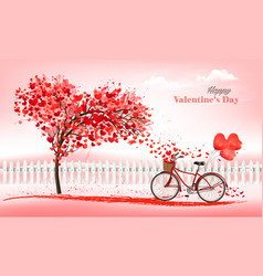 a pink holiday valentines day background vector image