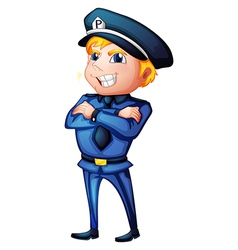 A policeman in a complete uniform vector image