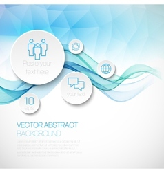 A wave of smoke infographics background vector