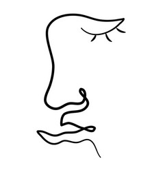 abstract minimalistic continuous line drawing vector image