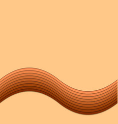 Abstract wave background template from curved vector