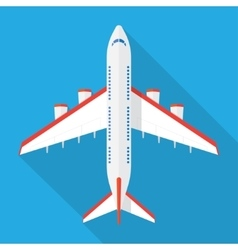 Airplane view from above vector image
