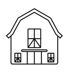Barn or farm house line art icon for apps vector