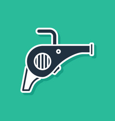 Blue leaf garden blower icon isolated on green vector