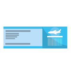 boarding pass cartoon vector image