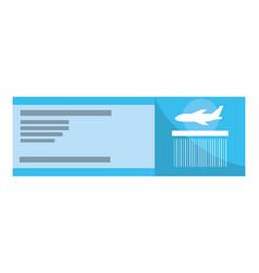 boarding pass cartoon vector image