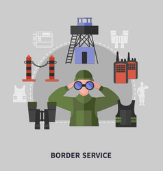 Border guard concept vector