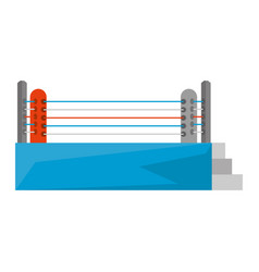 boxing quadrilateral isolated icon vector image