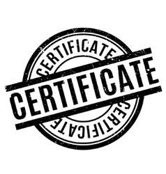 Certificate rubber stamp vector