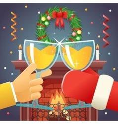 Christmas with Santa Claus Celebration Success and vector image