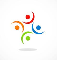 circular people group logo vector image