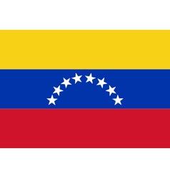 Colored flag of Venezuela vector