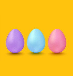 colorful eggs for easter vector image