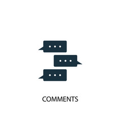 comments icon simple element vector image