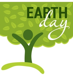 Earth Day greeting vector image