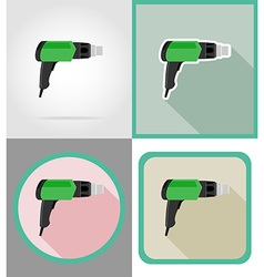 Electric repair tools flat icons 04 vector