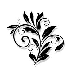 Elegance floral element vector
