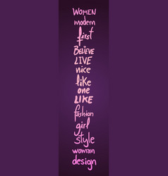 female fashion card vector image