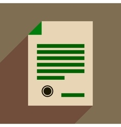 Flat web icon with long shadow judgment document vector