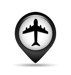 Flying plane icon vector