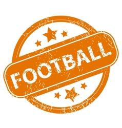 Football grunge icon vector