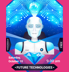 Future technologies poster vector
