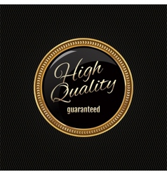 Golden label premium quality vector