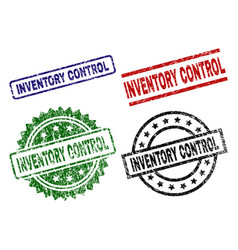 Grunge textured inventory control seal stamps vector