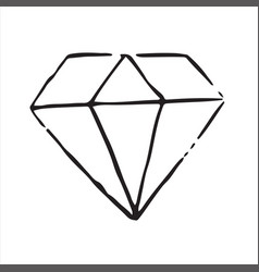 hand drawn doodle diamondperfect for invitation vector image